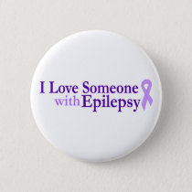 epilepsy love pinback button