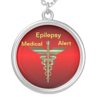 Epilepsy Medical Alert Asclepius Caduceus Necklac Pendant