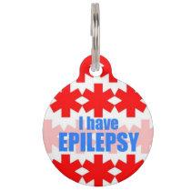 Epilepsy Medical Alert Tag