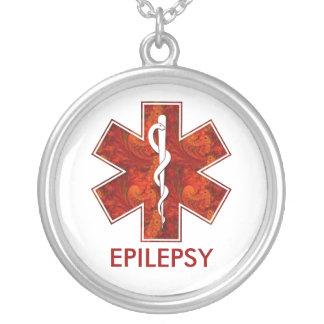 Epilepsy Medical   Necklace: Customizable Round Pendant Necklace