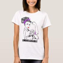 Epilepsy Mom Unbreakable - Awareness T-Shirt
