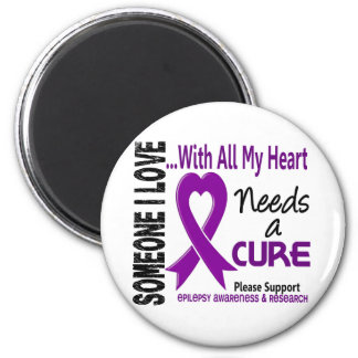 Epilepsy Needs A Cure 3 2 Inch Round Magnet