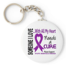 Epilepsy Needs A Cure 3 Keychain