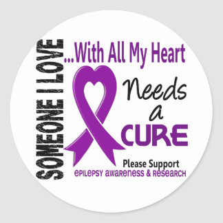Epilepsy Needs A Cure 3 Round Stickers