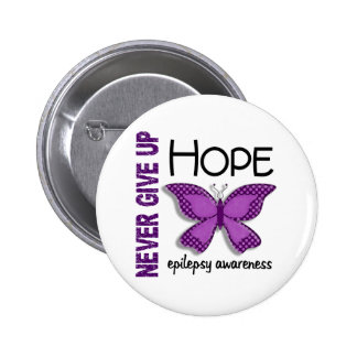 Epilepsy Never Give Up Hope Butterfly 4.1 2 Inch Round Button