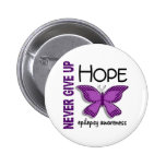 Epilepsy Never Give Up Hope Butterfly 4.1 Button