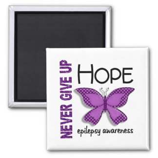 Epilepsy Never Give Up Hope Butterfly 4.1 Magnets