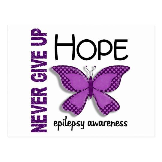 Epilepsy Never Give Up Hope Butterfly 4.1 Postcard