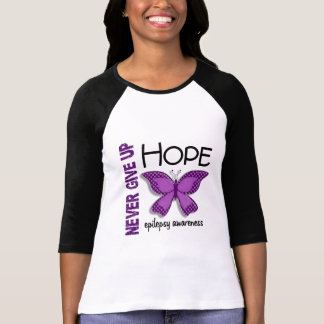 Epilepsy Never Give Up Hope Butterfly 4.1 T-shirts