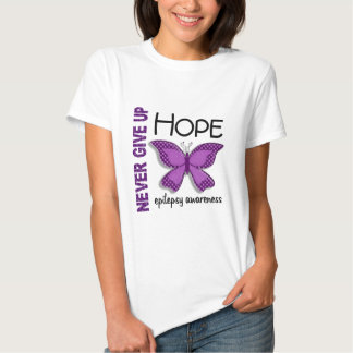 Epilepsy Never Give Up Hope Butterfly 4.1 Tee Shirt