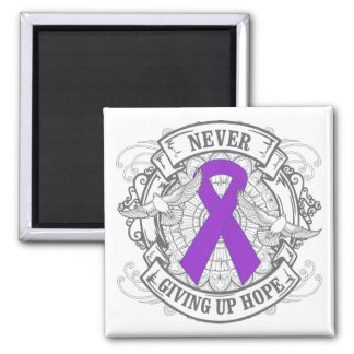 Epilepsy Never Giving Up Hope 2 Inch Square Magnet