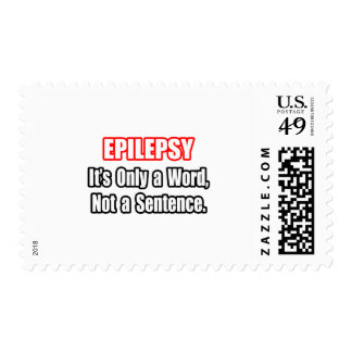Epilepsy...Not a Sentence Postage Stamps