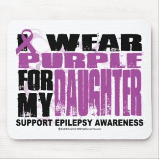 Epilepsy Purple for Daughter Mouse Pad