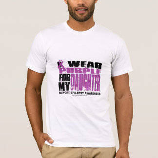Epilepsy Purple for Daughter T-Shirt