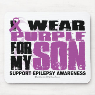 Epilepsy Purple for Son Mouse Pad