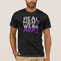 Epilepsy Real Men Wear Purple T-Shirt