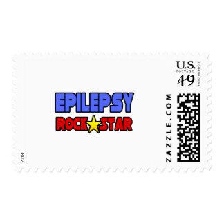 Epilepsy Rock Star Postage Stamps