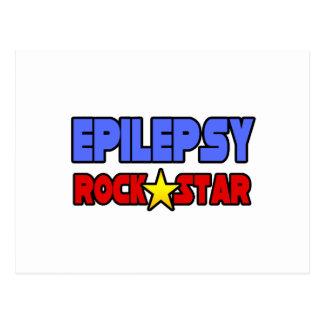 Epilepsy Rock Star Postcard