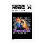 Epilepsy Rosie The Riveter WE CAN DO IT Postage Stamps