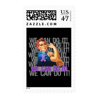 Epilepsy Rosie The Riveter WE CAN DO IT Postage Stamp