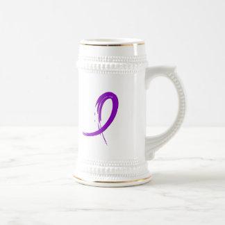 Epilepsy s Purple Ribbon A4 Coffee Mugs