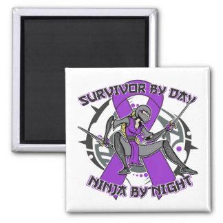 Epilepsy Survivor By Day Ninja By Night Fridge Magnets