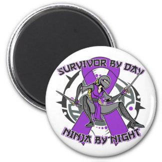 Epilepsy Survivor By Day Ninja By Night Magnets
