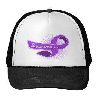 Epilepsy Survivor Ribbon Trucker Hats