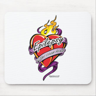 Epilepsy Tattoo Heart Mouse Pad