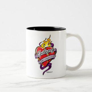 Epilepsy Tattoo Heart Two-Tone Coffee Mug