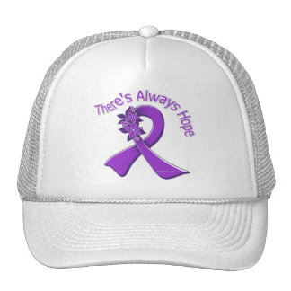 Epilepsy There's Always Hope Floral Trucker Hat