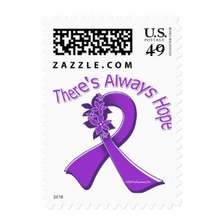 Epilepsy There's Always Hope Floral Stamp