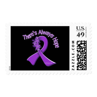 Epilepsy There's Always Hope Floral Postage Stamps