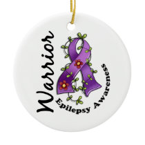 Epilepsy Warrior 15 Ceramic Ornament