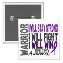 Epilepsy Warrior 2 Inch Square Button