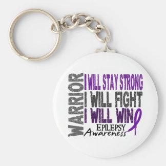 Epilepsy Warrior Basic Round Button Keychain