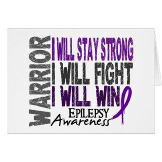 Epilepsy Warrior Card