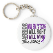 Epilepsy Warrior Keychain