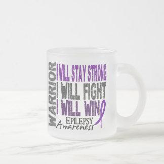 Epilepsy Warrior 10 Oz Frosted Glass Coffee Mug