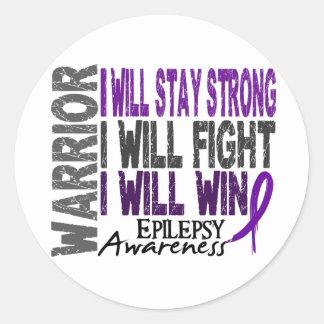Epilepsy Warrior Round Sticker