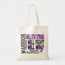 Epilepsy Warrior Tote Bag