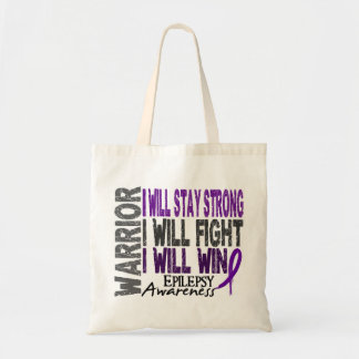 Epilepsy Warrior Tote Bag
