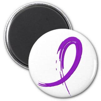 Epilepsy's Purple Ribbon A4 2 Inch Round Magnet