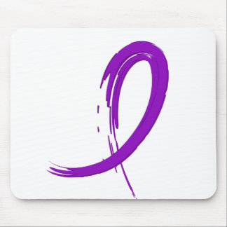 Epilepsy's Purple Ribbon A4 Mouse Pad