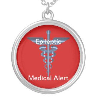 Epileptic Medical Alert Asclepius Caduceus Necklac Custom Jewelry