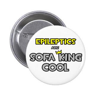 Epileptics es rey Cool del sofá Pin Redondo De 2 Pulgadas