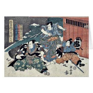 Epílogo del Chushingura por Utagawa, Kuniyasu Tarjetas