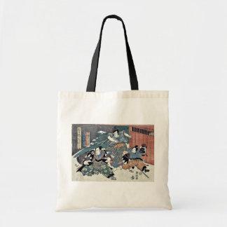 Epilogue of the Chushingura by Utagawa, Kuniyasu Tote Bag
