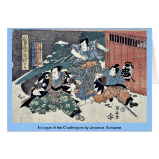 Epilogue of the Chushingura by Utagawa Kuniyasu Cards