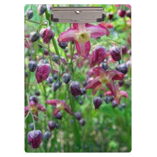 Epimedium Flowers Clipboard